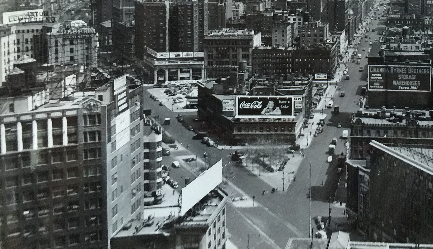 View Of Broadway And West 66th Street Douglas Leigh