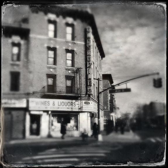 oldsmobile tintype � flatbush avenue brooklyn � fading ad
