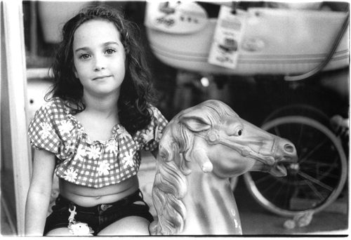 Girl on Beach - Ft. Tilden, Queens - Fading Ad Blog
