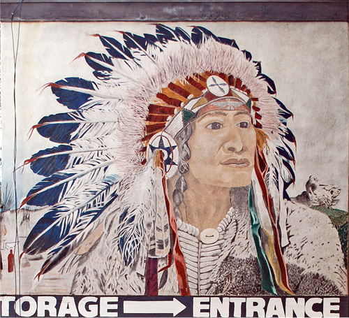 Indian Chief Mural – Hollywood Bowl Self-Storage – Argyle Avenue