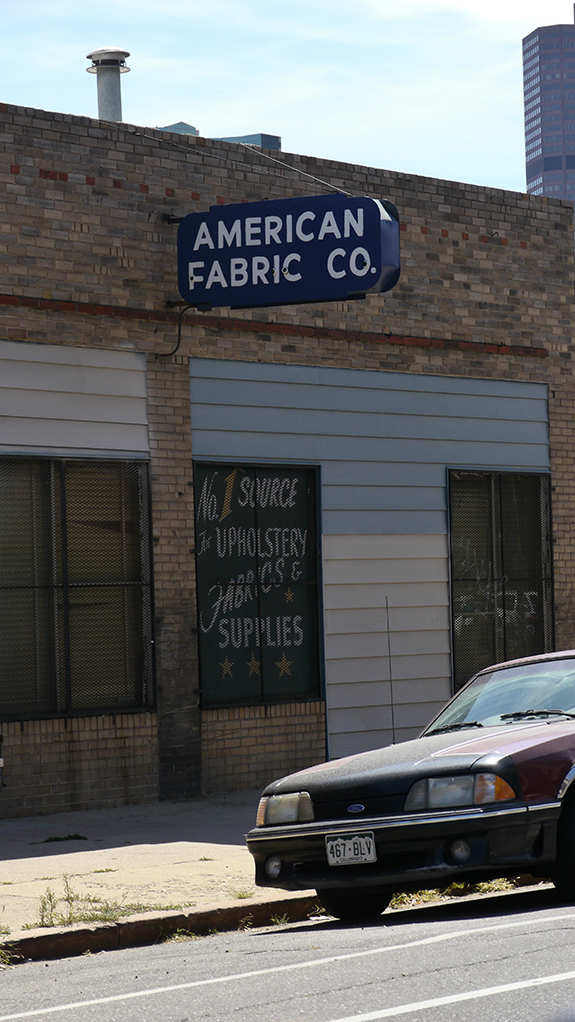 American Fabric Co Larimer Street Downtown Denver Co Fading Ad Blog