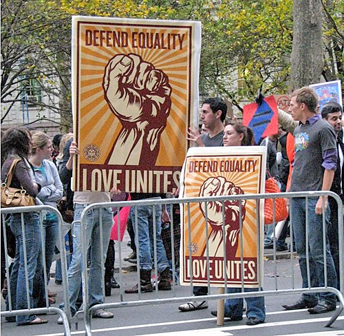 Marriage Equality Demonstration at City Hall, NYC - Saturday, November 15, 2008 © Jon Nalley