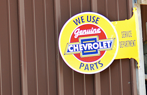 Chevy Parts Sign
