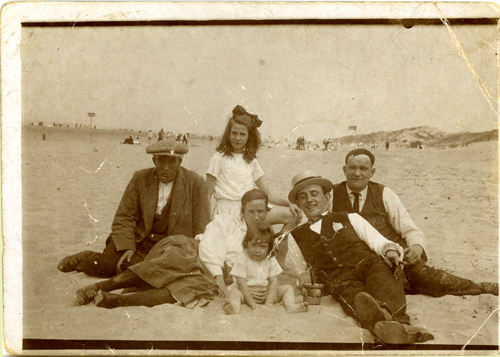 Johanna Fokkens (maternal grandmother) at the beach in Holland - Zandvoort